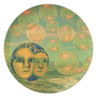 Consciousness – Gold and Green Awakening Melamine Plate
