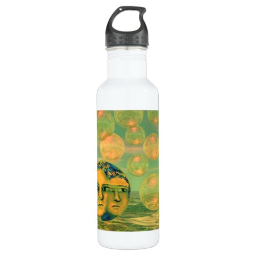 Consciousness – Gold and Green Awakening Water Bottle