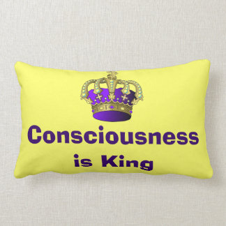 Consciousness  is King oblong pillow