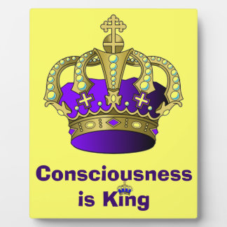 Consciousness is King plaque