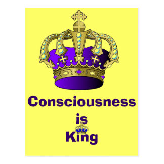Consciousness  is King postcard