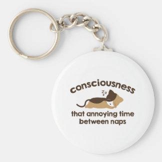 Consciousness Basic Round Button Keychain