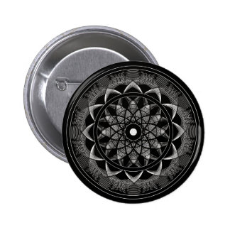 Consciousness - Sacred Geometry Mandala Pinback Button