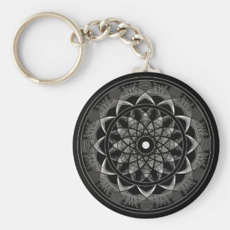 Consciousness - Sacred Geometry Mandala Keychain