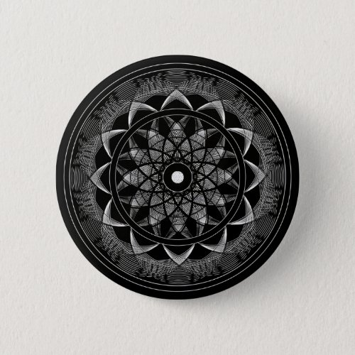 Consciousness _ Sacred Geometry Mandala Pinback Button