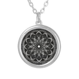 Consciousness - Sacred Geometry Mandala Round Pendant Necklace