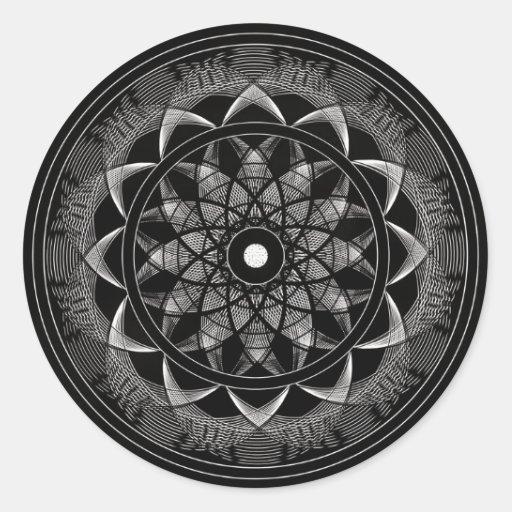 Consciousness - Sacred Geometry Mandala Round Sticker
