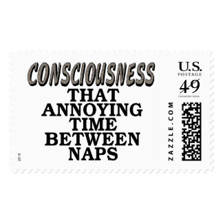 Consciousness: That annoying time between naps Postage