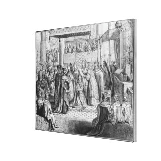Consecration and Coronation of Henri IV Canvas Print
