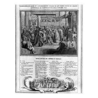 Consecration and Coronation of Henri IV Postcard