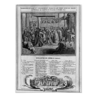 Consecration and Coronation of Henri IV Poster