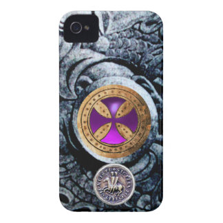 CONSECRATION CROSS AND SEAL OF THE KNIGHTS TEMPLAR iPhone 4 CASES