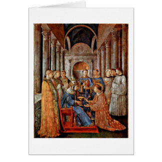 Consecration Of St.Lawrence By Fra Angelico Card