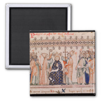 Consecration Philippe III le Hardi King of 2 Inch Square Magnet
