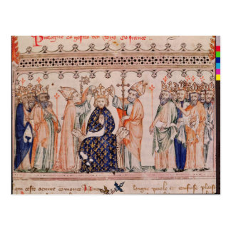 Consecration Philippe III le Hardi King of Postcard