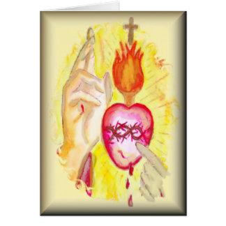 Consecration Sacred Heart Prayer Card