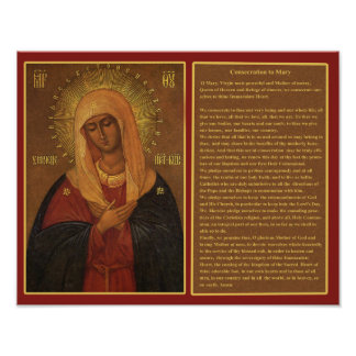 CONSECRATION TO MARY. POSTER