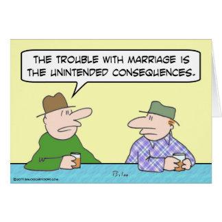 consecuencias involuntarias de la boda tarjeta