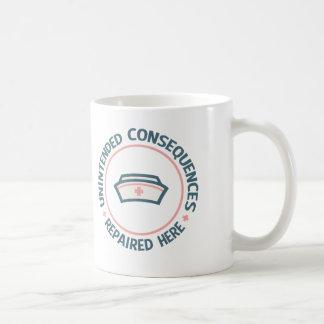 Consecuencias involuntarias reparadas taza de café