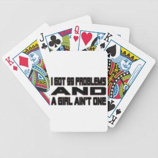 Conseguí 99 problemas baraja cartas de poker