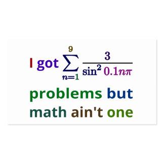 Conseguí 99 problemas pero la matemáticas no es un plantillas de tarjetas de visita