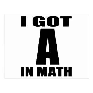 Conseguí A en matemáticas Postales