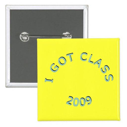 Conseguí al Lt 2009 de la clase. Botón cuadrado az Pin