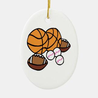 Conseguí bolas adorno navideño ovalado de cerámica