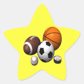 Conseguí bolas pegatina en forma de estrella