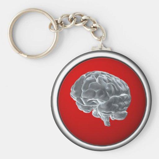 ¡Conseguí cerebros! Llavero Redondo Tipo Pin