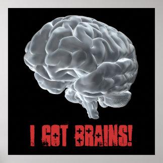 ¡Conseguí cerebros! Póster