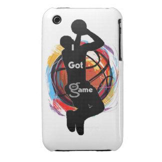 Conseguí el juego baloncesto - compañero del cas iPhone 3 protector