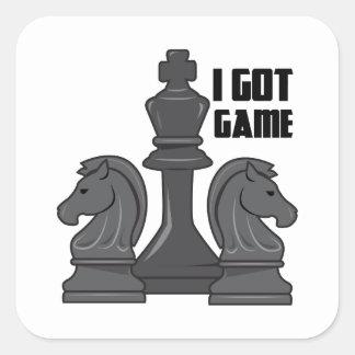 Conseguí el juego pegatina cuadrada