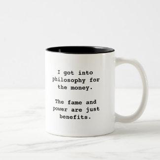 Conseguí en la filosofía para… el negro del 2-tono taza de café de dos colores