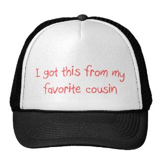 Conseguí esto de mi gorra preferido del primo
