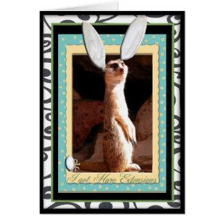 Conseguí extensiones de las liebres tarjeta de felicitación
