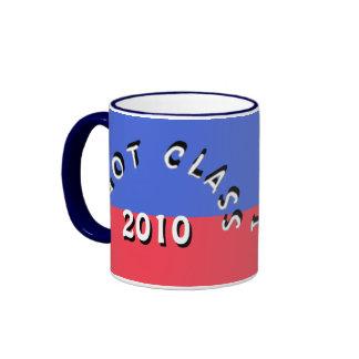 Conseguí la clase (azules y rojos brillantes) taza de café