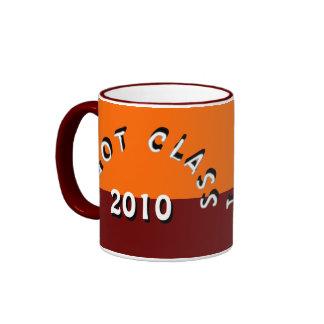 Conseguí la clase (mandarina y el marrón) taza de dos colores
