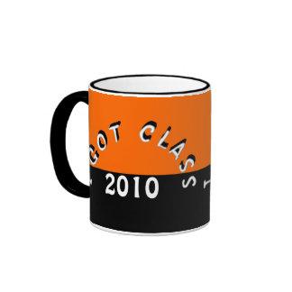 Conseguí la clase (mandarina y el negro) taza de café