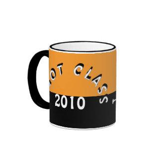 Conseguí la clase (naranja y el negro) tazas de café