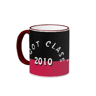 Conseguí la clase (negro y la cereza) tazas de café