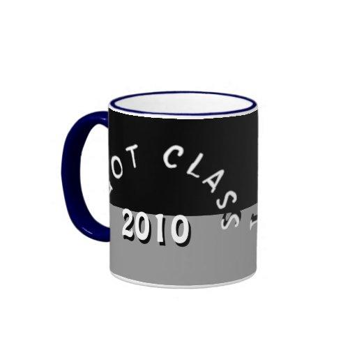 Conseguí la clase (negro y la plata) taza