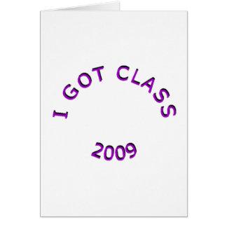 Conseguí la tarjeta de felicitación de la púrpura
