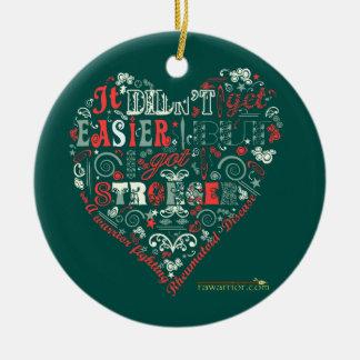 Conseguí más fuerte adorno navideño redondo de cerámica