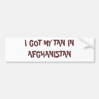 CONSEGUÍ MI MORENO EN AFGANISTÁN PEGATINA PARA AUTO