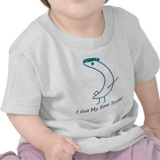 ¡Conseguí mi primer diente!  camiseta infantil