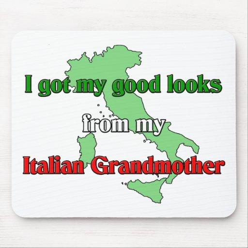 Conseguí mis buenas miradas de mi abuela italiana alfombrillas de raton