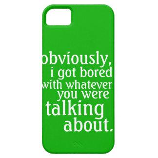 Conseguí obviamente aburrido iPhone 5 carcasa