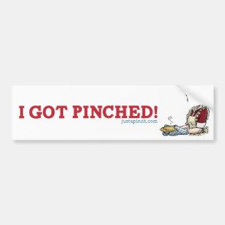 ¡Conseguí pellizcado Pegatina para el parachoques Pegatina De Parachoque