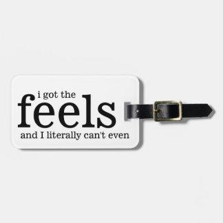 Conseguí siento y no puedo literalmente incluso etiquetas para maletas